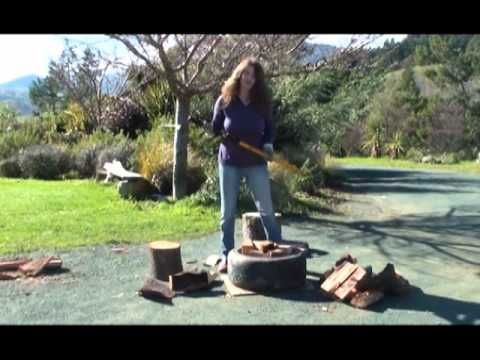Logmatic Log Splitter Wedge Axe Cutting Fire With