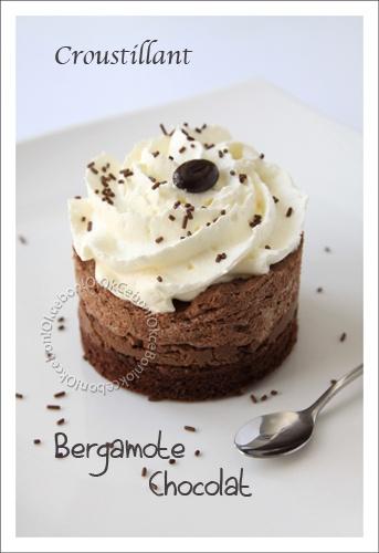 Mousseux croustillant chocolat bergamote