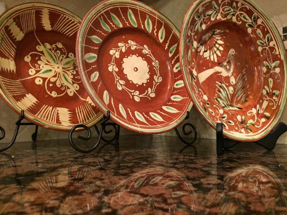Mexican Home Decor Set of 3 Beautiful Terracotta by mytimevintage