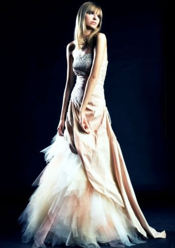 Suknia ślubna venika w kształcie litery A