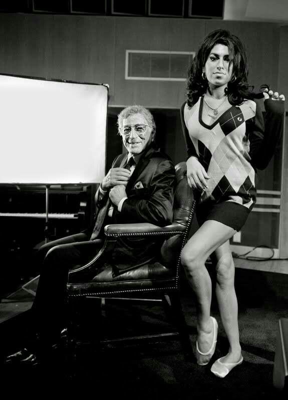 Amy with Tony Bennett  Read more articles about #Amy #Winehouse on http://www.johanpersyn.com/?s=winehouse