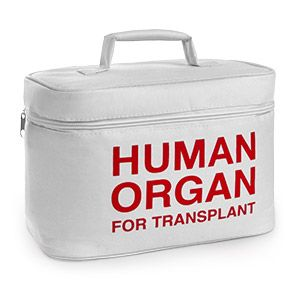 Organ Transport Lunch Cooler is perfect for deterring food-thieves. This insulated lunch box made of polyester fabric has a reflective, food-safe PEVA inner lining. #Nerd #Handy
