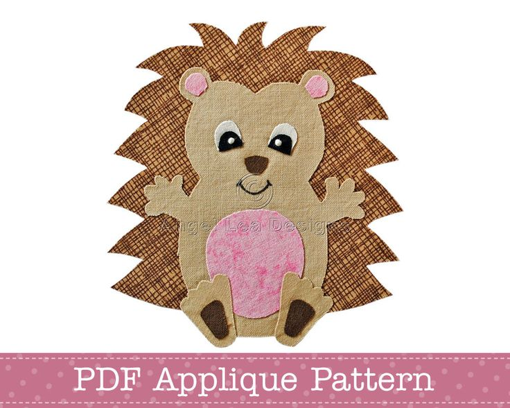Hedgehog Applique Template PDF Baby Hedgehog Applique Pattern. $2.00, via Etsy.