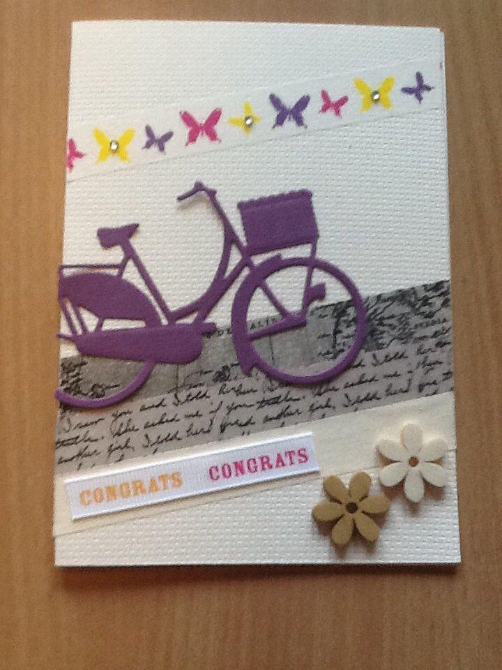 Kort / card Cykel / bike Hjemmelavet / homemade Washi tape