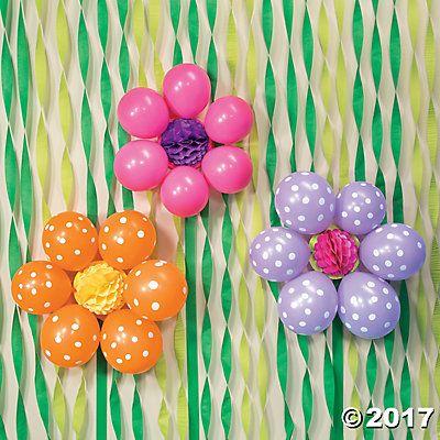 Diy balloon flowers idea spring dance decorations for Spring dance decorations