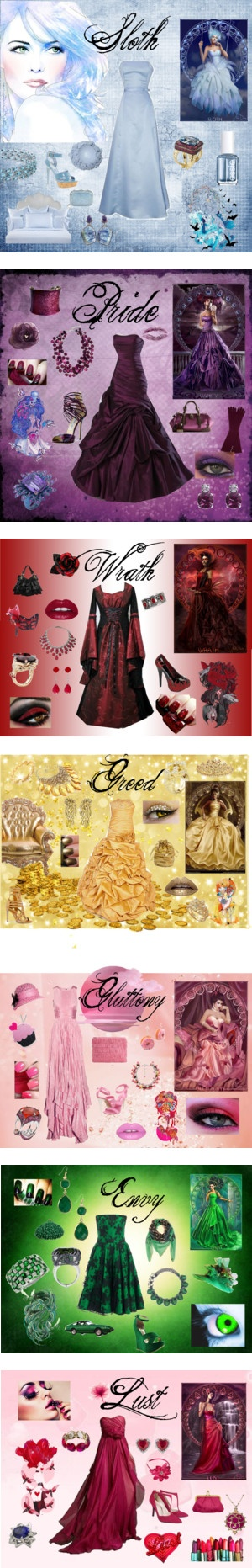 """""""7 Deadly Sins"""" by arsphidius on Polyvore"""