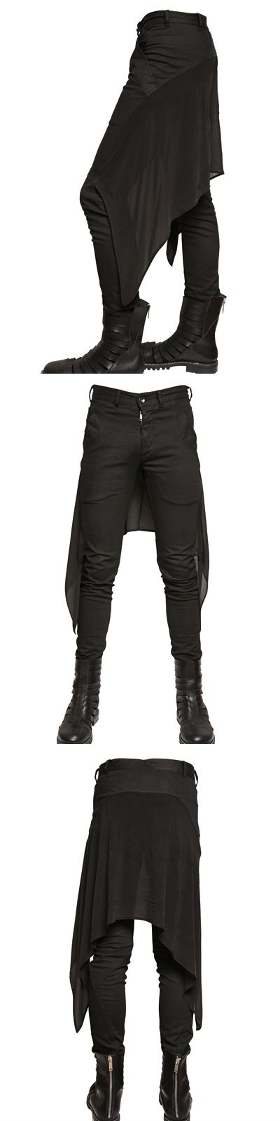 Visions of the Future: Silk Chiffon And Stretch Denim Jeans from Gareth Pugh.