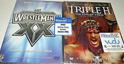 WWE WRESTLEMANIA XX 20 & TRIPLE H KING OF KINGS - WALMART VALUE PACK DVD - NEW
