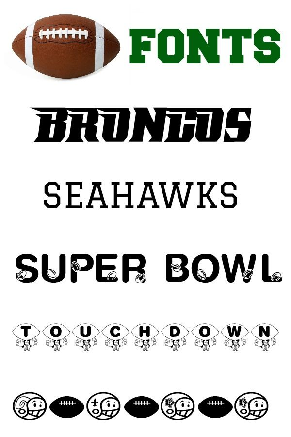 Free Football Fonts. Perfect for Super Bowl part invitations.