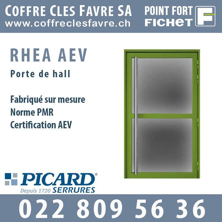 Rhéa AEV Porte acier en monobloc AEV sur paumelles. Norme et certification : AEV et PMR. Ouverture vers l'extérieur. #Pointfortfichet #Geneve #hall #porte #securite