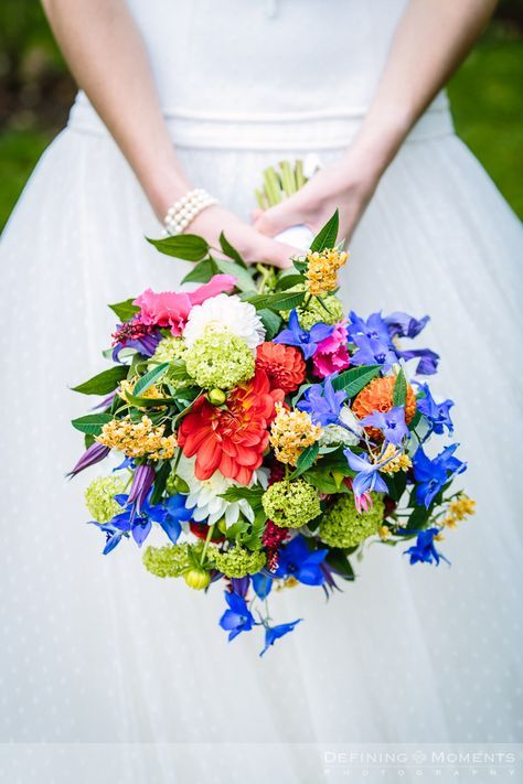 Bruidsboeket in witte en blauwe tinten. | Bruidsboeket | Pinterest