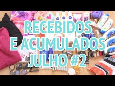 Recebidos e Acumulados Julho #2 - YouTube