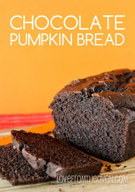Dark Chocolate Pumpkin Bread Recipe. The pumpkin makes this bread so moist and delicious, we love this for breakfast!