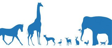 Animal Farm Wall Sticker, Blue contemporary decals