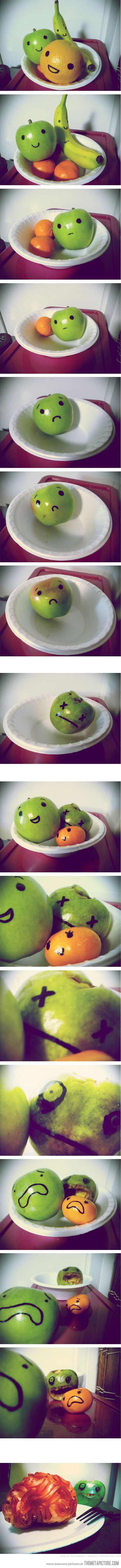 A Fruit Story-At first I thought it was sad, but then it became...less sad...for the original apple...sorta...
