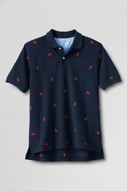 Anchor embroidered polo.