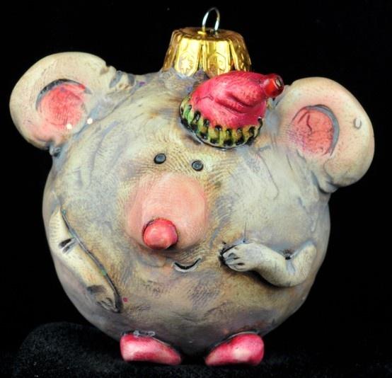 cute christmas mouse decoration