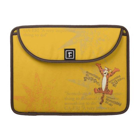 Tigger - Something to Pounce MacBook Pro Sleeve #laptop #computer #ipad #mac #sleeve #bags #modern #colorful