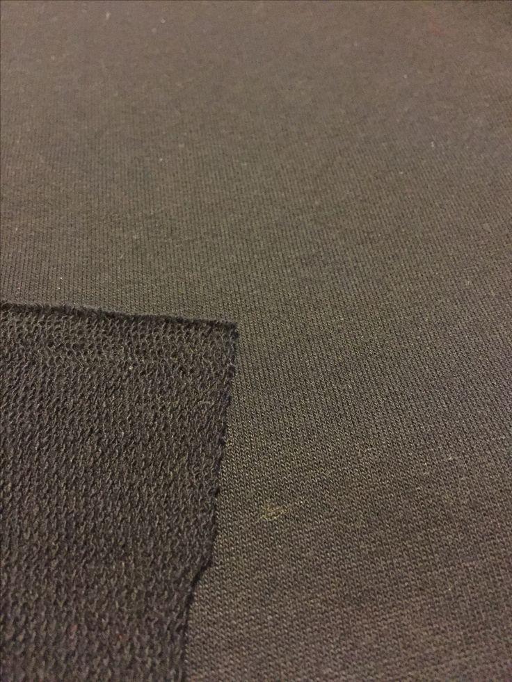 Black polo shirt knit 2 metres x 150cm