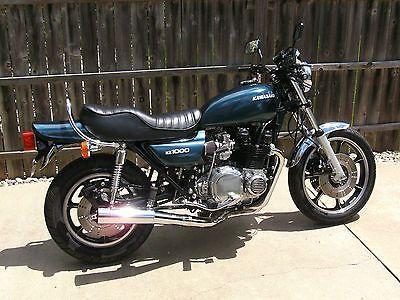 1980 Kawasaki KZ1000, DOHC 4cyl/5speed