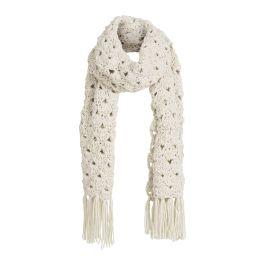 America Today sjaal. De sjaal is grof gebreid en heeft franjes aan de uiteinden.  Lengte maat one size: 180 cm Breedte maat one size: 33 cm  Materiaal: 100% acryl