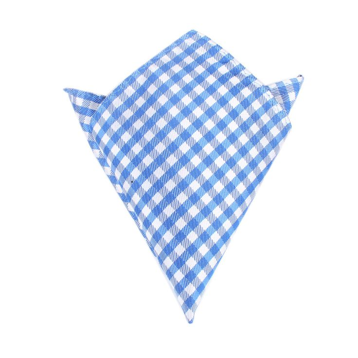 Blue Gingham Pocket Square by OTAA | Suit Handkerchief & Men's Pocket Squares  | Online Ties and Accessories  Australia | www.otaa.com.au | OTAA