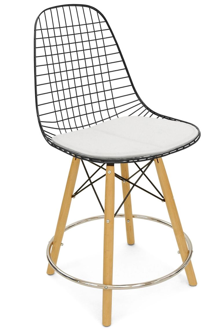 """Dowel 25"""" Counter Stool Wire Chair - Modernica"""