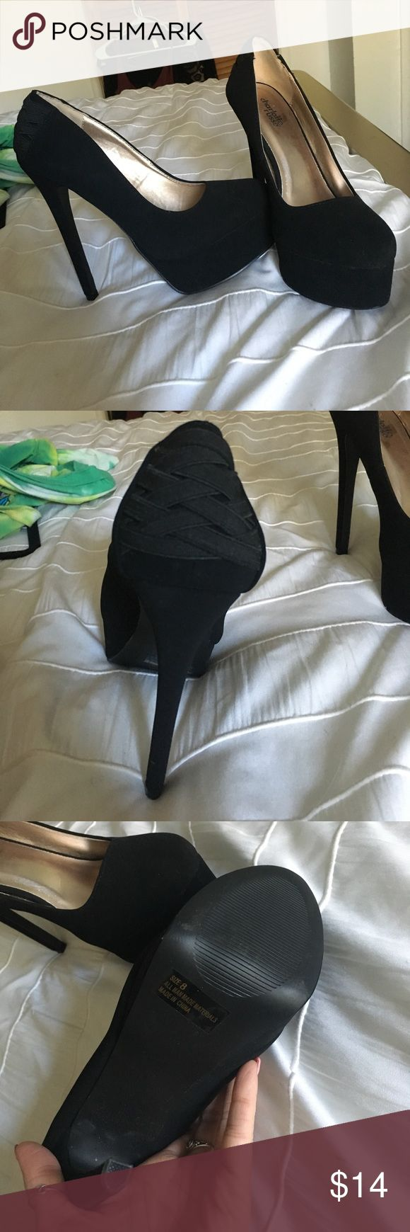 Black pumps Black Charlotte Russe Pumps, only warn once for about an hour (: Charlotte Russe Shoes Heels