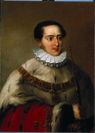 Retrato de D. Miguel I Autor:Ribeiro, João Baptista Datação:1828 d.C. - 1834 d.C.