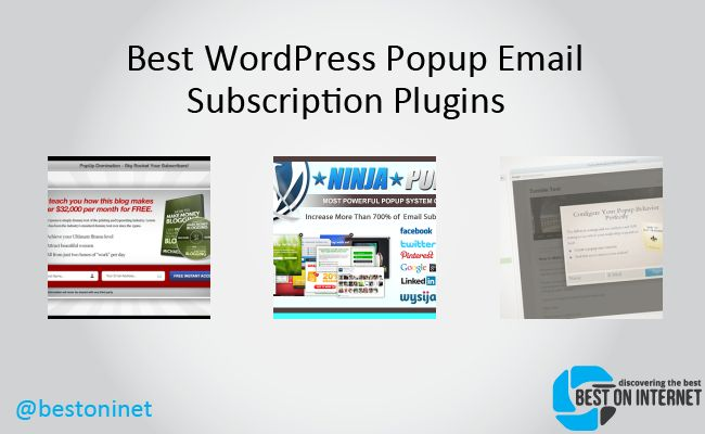 Best WordPress Popup Email Subscription Plugins