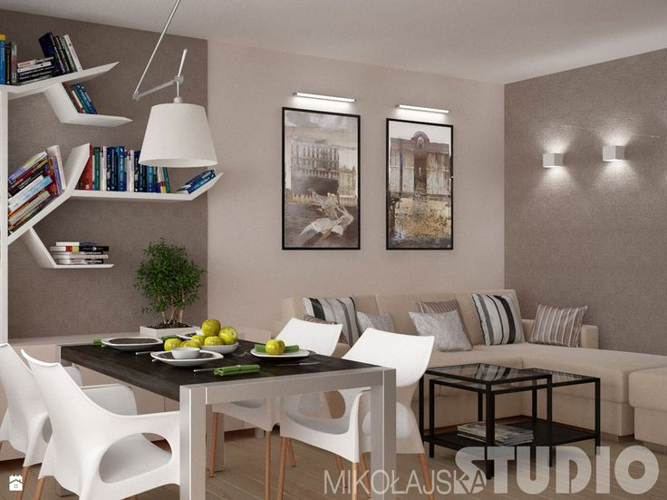 Salon w ciepłych kolorach - zdjęcie od MIKOŁAJSKAstudio - Salon - Styl…