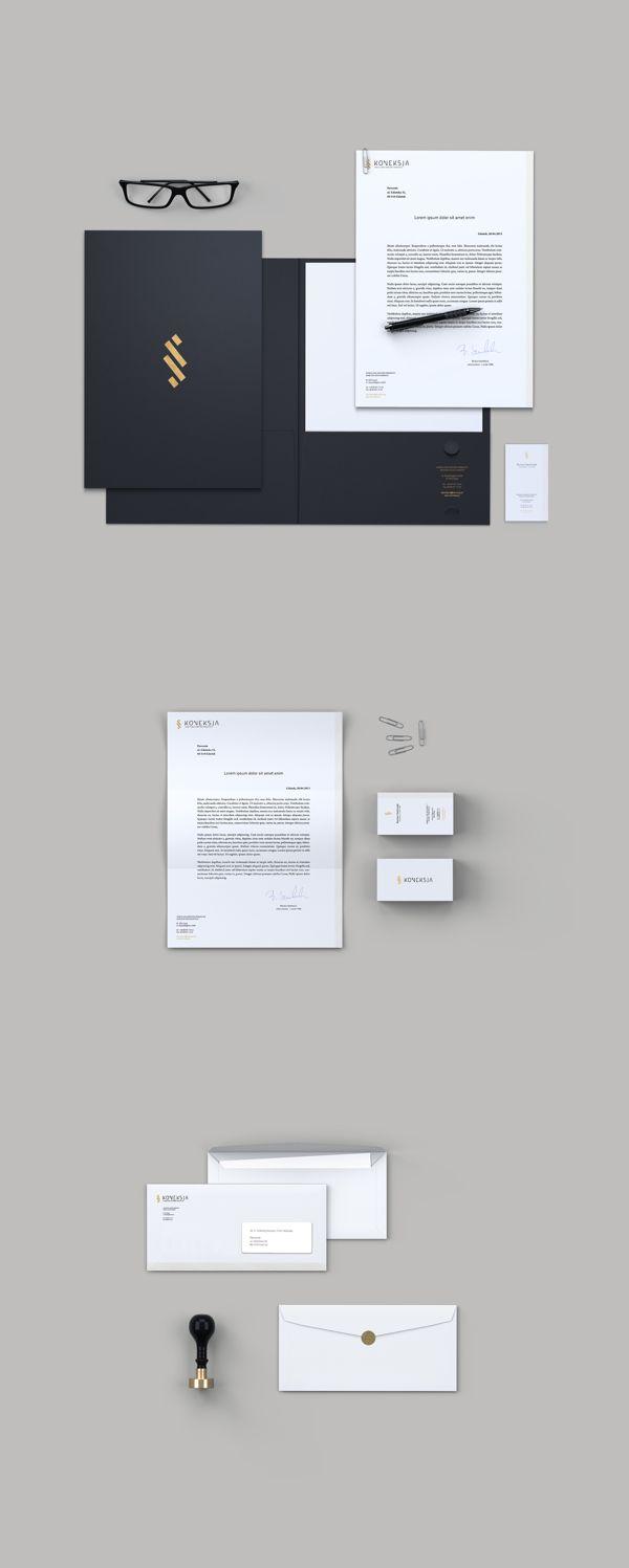 KONEKSJA - Branding & Web Design by Perconte #logo #stationery