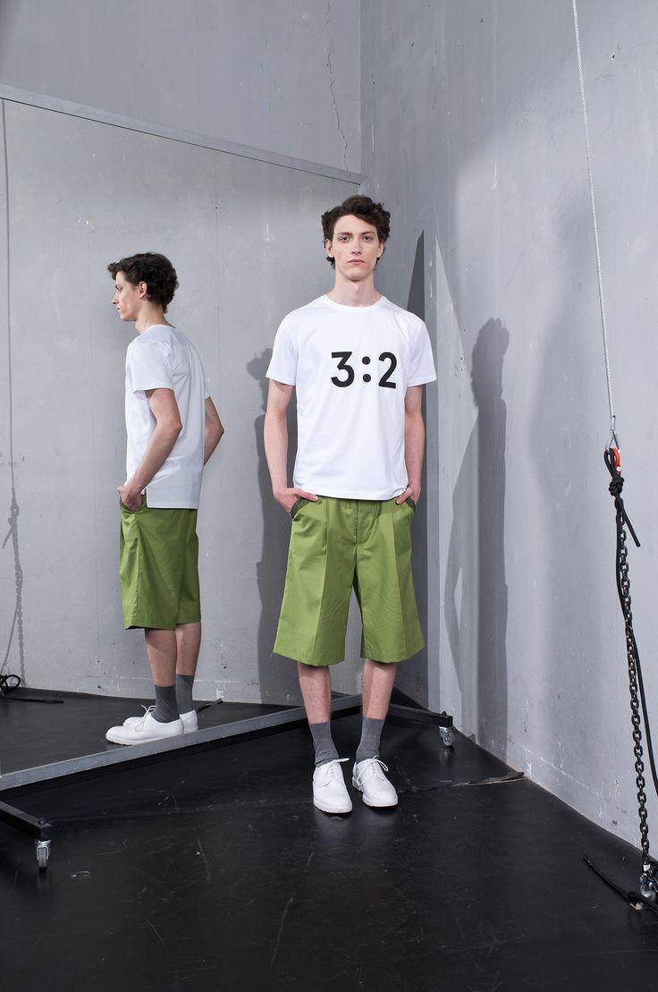 MEI KAWA | 3:2 Graphic White T-Shirt