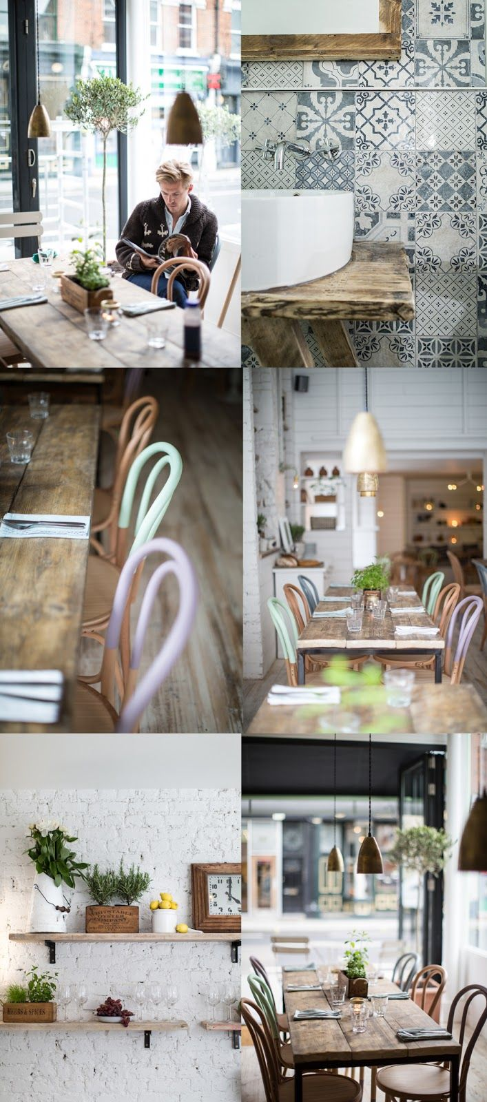 Hally's Cafe, Photography Helen Cathcart, Interior design Alexander Waterworth Interiors