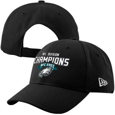 6599980cf15 ... shop new era philadelphia eagles 2013 nfc east division champions  9forty adjustable hat black 35991 04fb6