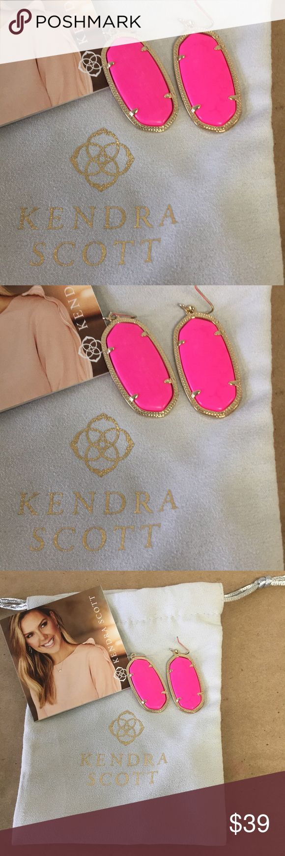 Kendra Scott Dani Earrings in Gold & Hot Pink Kendra Scott Dani Earrings in Gold & Hot Pink! Inventory #  6033-20 Everything we sell is 100% guaranteed authentic! We list dozens of items every day, so check our other listings out! We are Meta Exchange, a resale store in Baton Rouge, LA! Sorry, no trades. REASONABLE offers will be considered. We ship same/next day. Thanks! Follow us: FB metaexchange  IG meta225 Kendra Scott Jewelry Earrings