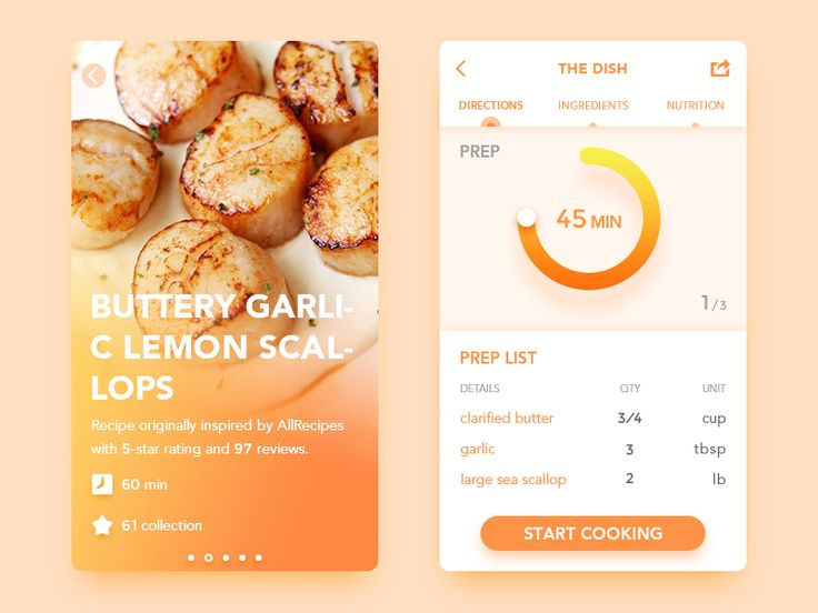 cooking App by Ink Glow #Design Popular #Dribbble #shots