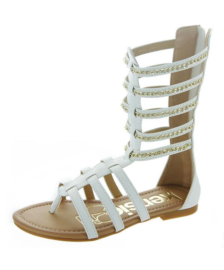 Look at this kensiegirl White Chain Gladiator Sandal on #zulily today!