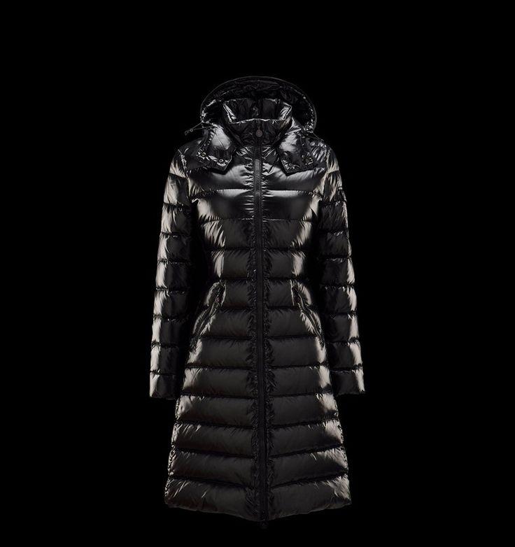 Le nouveau Moncler Doudoune Moka manteaux Femme Noir capuche personnalisé