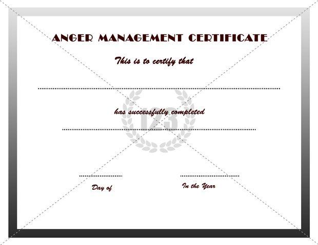 good anger management certificates download