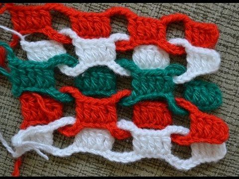 Простой разноцветный шарф (Simple colorful scarf crochet)