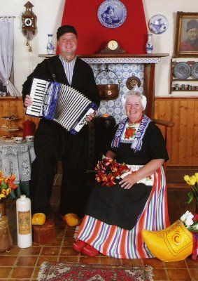 Dutch Traditional Dress - Holland a Great Place to Visit. #NoordHolland #Volendam