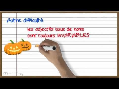 L'accord des adjectifs de couleur | À la française …
