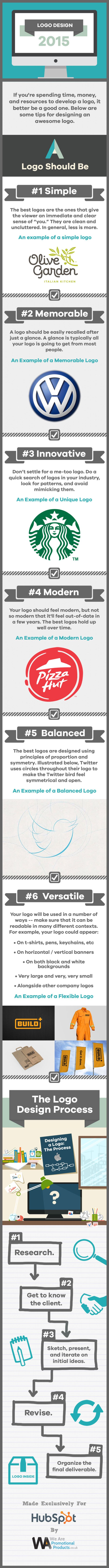 Rebranding in 2015 Here's 6 Tips to Create An Awesome Logo #Infographic