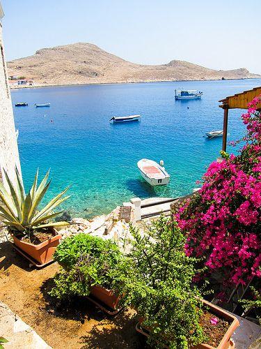 Halki, tiny amazing island in the Dodecanese, Greece
