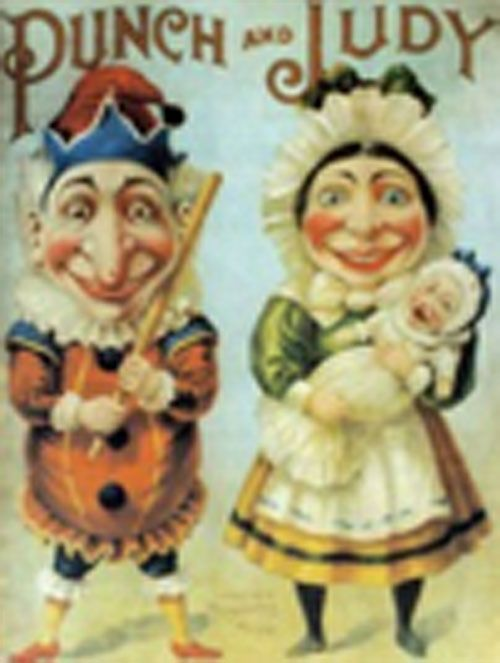 """""""pleased as punch""""    MEANING: To be very happy    HISTORY: A 17th century puppet show for children called Punch and Judy featured a puppet named Punch who always killed people. The act of killing brought him pleasure, so he felt pleased with himself afterwards."""