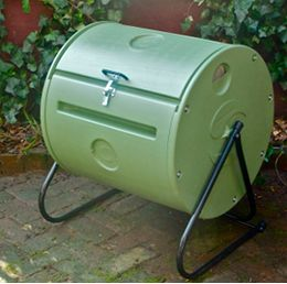 Easy Spin ComposTumbler® Makes Compost in 4 to 6 weeks. The Easy Spin ComposTumbler is an affordable, household size composter for daily amounts of kitchen and household throwouts. You will have finished compost in 4-6 weeks! The small size is great for y
