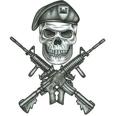 Military Tattoos on Army Infidil Tattoo Design Tattoowoo Com skull guns tattoo flash art ~A.R.