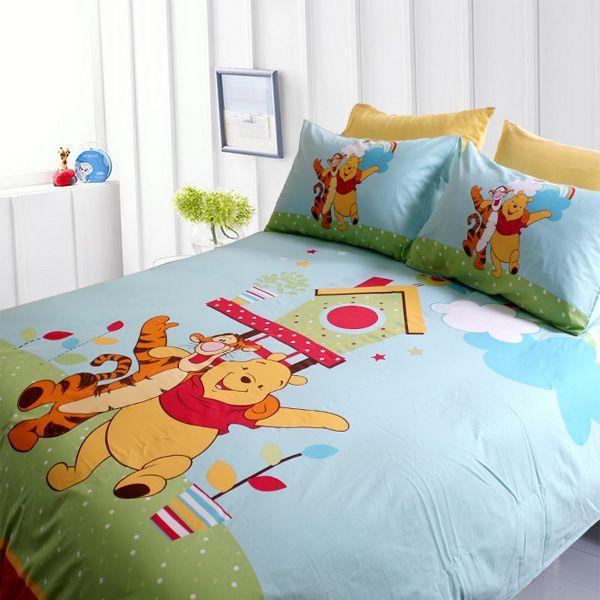 Winnie The Pooh Bedroom Blue Bedding Full
