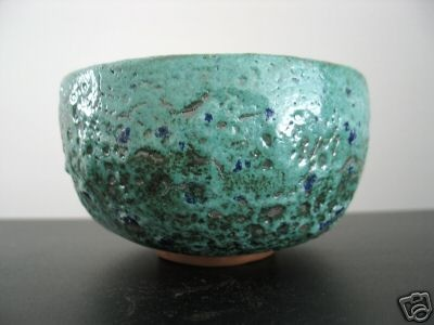 love this frothy ocean-like textured glaze